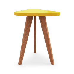 Table Triangle Bodo Jaune