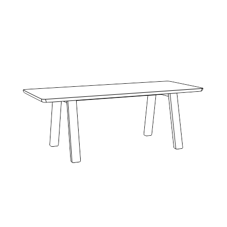 Grande table 90 x 220cm