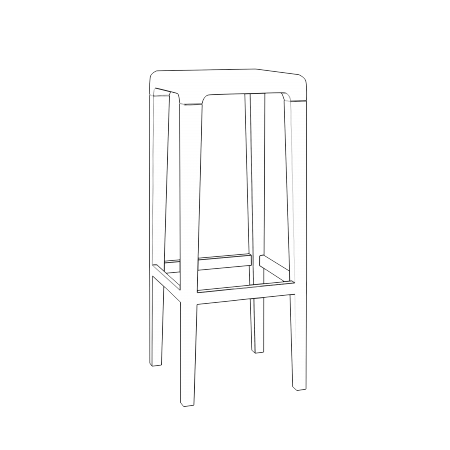 Lot de 2 tabourets de bar hauteur 80 cm