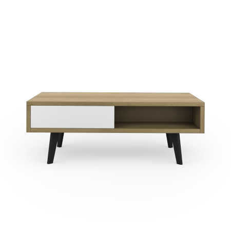 TABLE BASSE 2 TIROIRS 2 NICHES