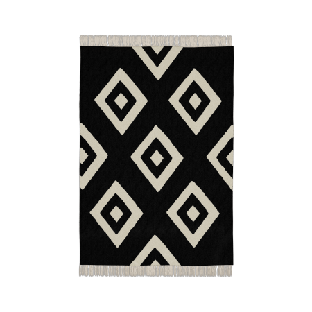 Tapis Diamonds Black