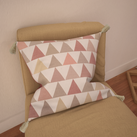 Coussin Triangles Rose