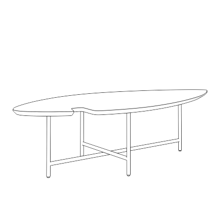 TABLE BASSE LEAF
