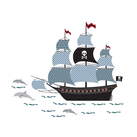 STICKERS BATEAU DE PIRATE