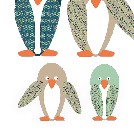 STICKERS FAMILLE PINGOUIN