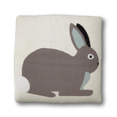 Coussin reversible Lapin