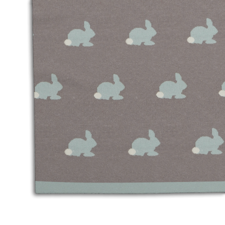Plaid tricoté -LAPIN-