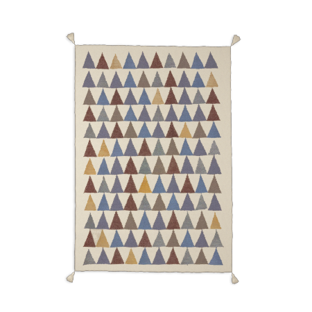 Tapis Bleu -TRIANGLE-