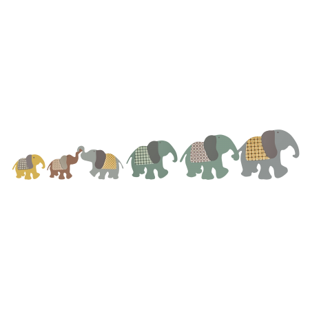 Stickers_ART FOR KIDS_Stickers Enfant Famille Elephant
