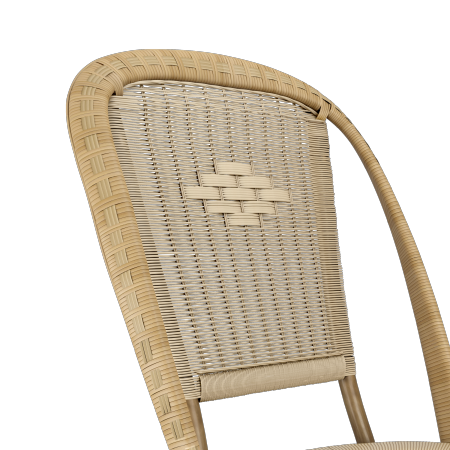 CHAISE ROTIN NATUREL ALBERTINE