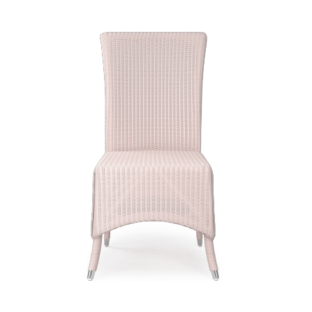 Chaise Lloyd Loom rose tendre