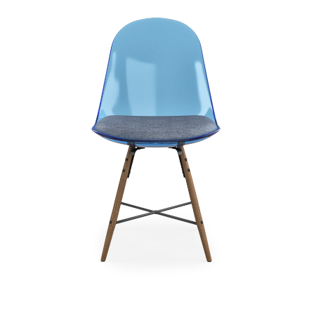 LOT DE 2 CHAISES PLEXY