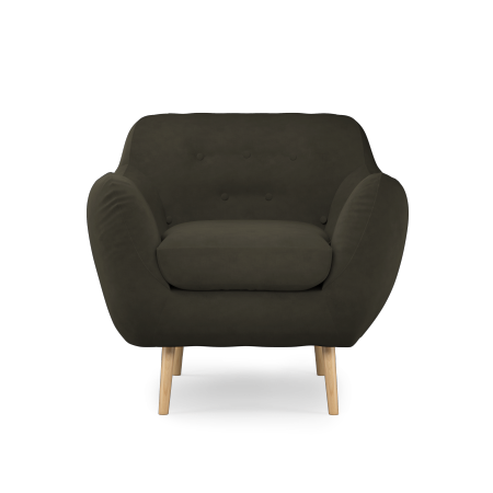 Fauteuil tissu anthracite