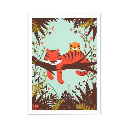 Art-Poster - Sleeping Tiger - Jay Fleck