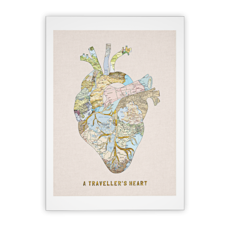 Art-Poster - A travellers' Heart - Bianca Green