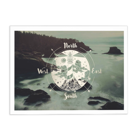 ART POSTER HEADLIGHT CASCADIA