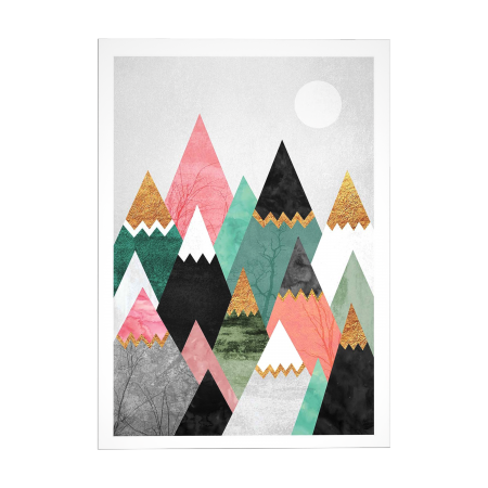 ART POSTER PRETTY MOUNTAINS