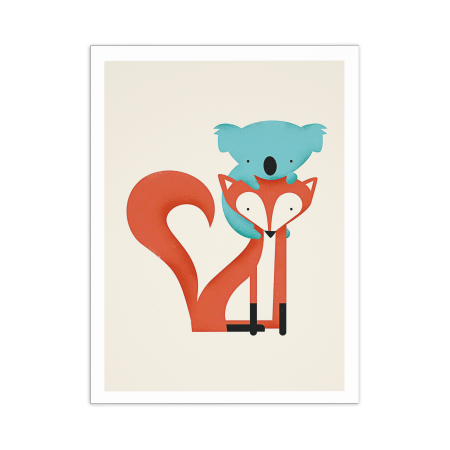 ART POSTER FOX AND KOALA JAY FLECK
