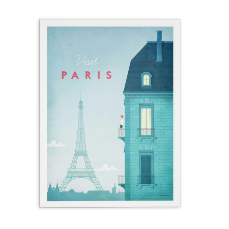 ART POSTER VISIT PARIS