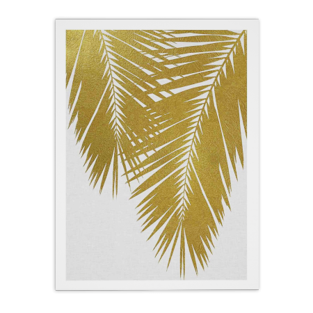 ART POSTER PALM LEAF GOLD ORARA STUDIO