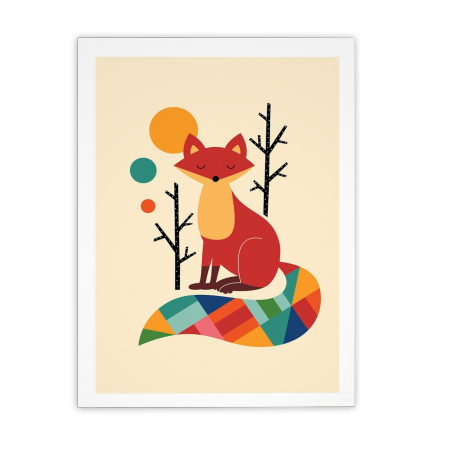 ART POSTER RAINBOW FOX