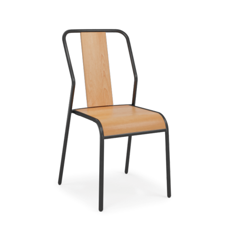 LOT DE 4 CHAISES SPIRIT