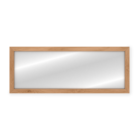 Grand miroir rectangle en teck massif