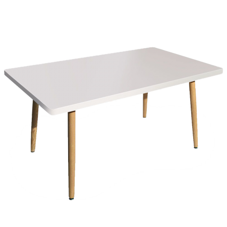 Table rectangulaire Nora Blanc