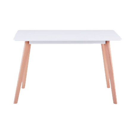 Table rectangulaire scandinave Sabina Blanc