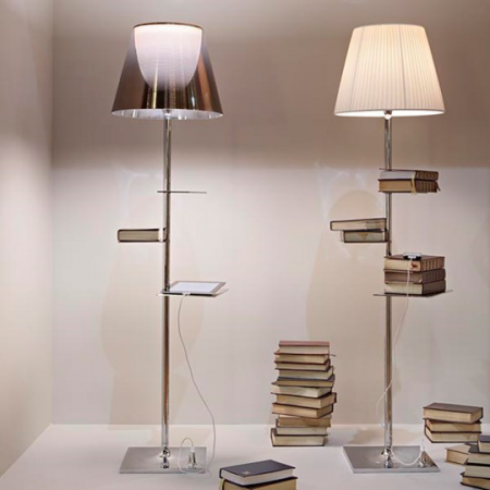 lampadaire BIBLIOTHEQUE NATIONALE (Transparent - polycarbonate / acier) FLOS