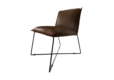 Chaise - Cuir (Marron) - IRON LABEL