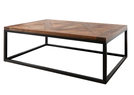 Table basse 110x70x40cm - Bois d'acacia laqué (Noisette) LOUNGE COLLECTION
