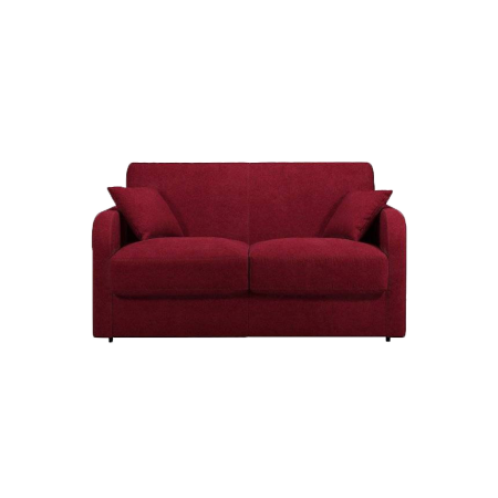 Canapé convertible tissu Melrose rouge